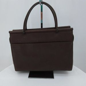 Coach Satchel Brown Solid Leather Zip Top M92-9182
